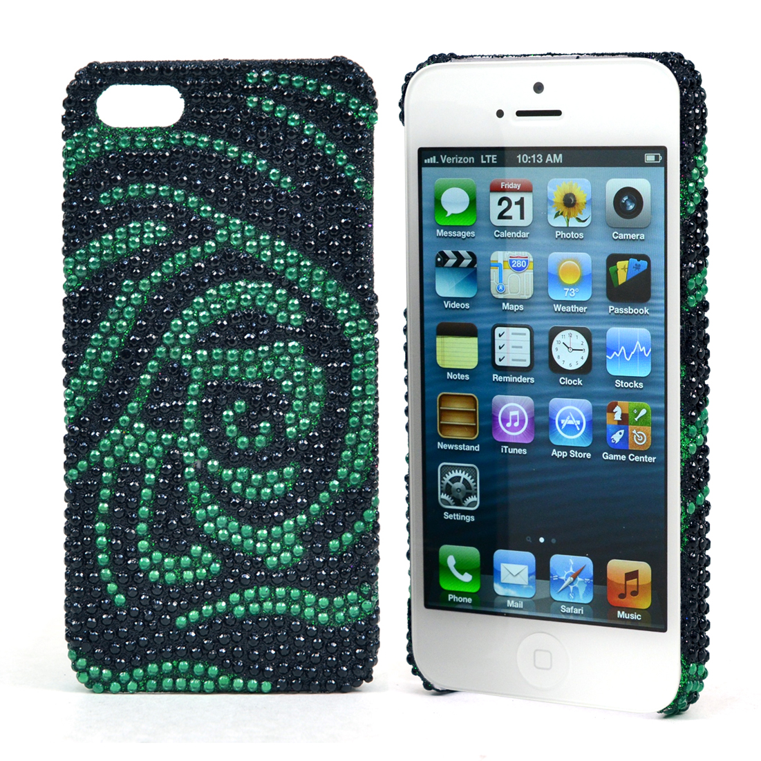 Dasein® Rhinestone Embellished Rose Cell Phone Case for iPhone 5