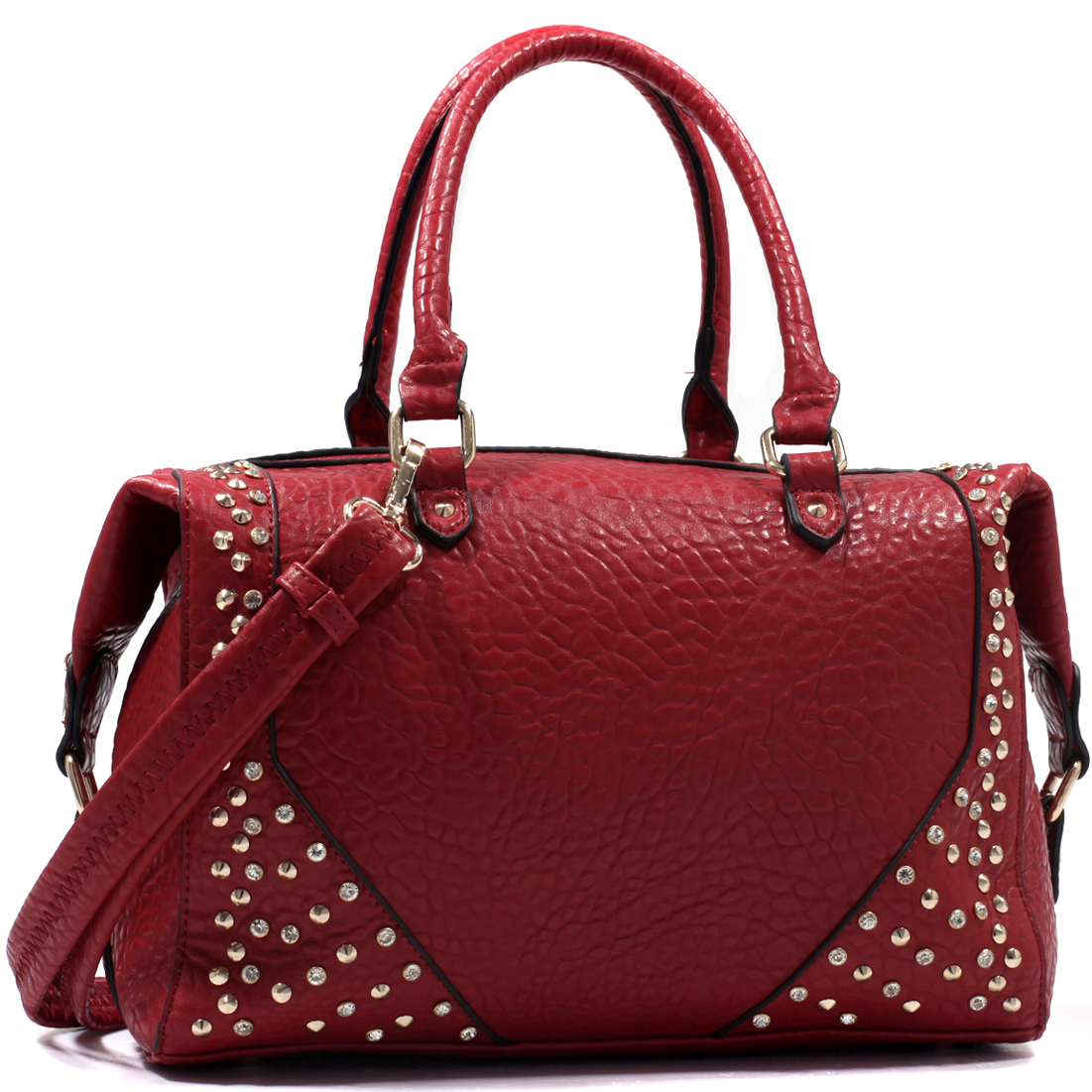 Isabelle® Rhinestone Studded Carrying Satchel