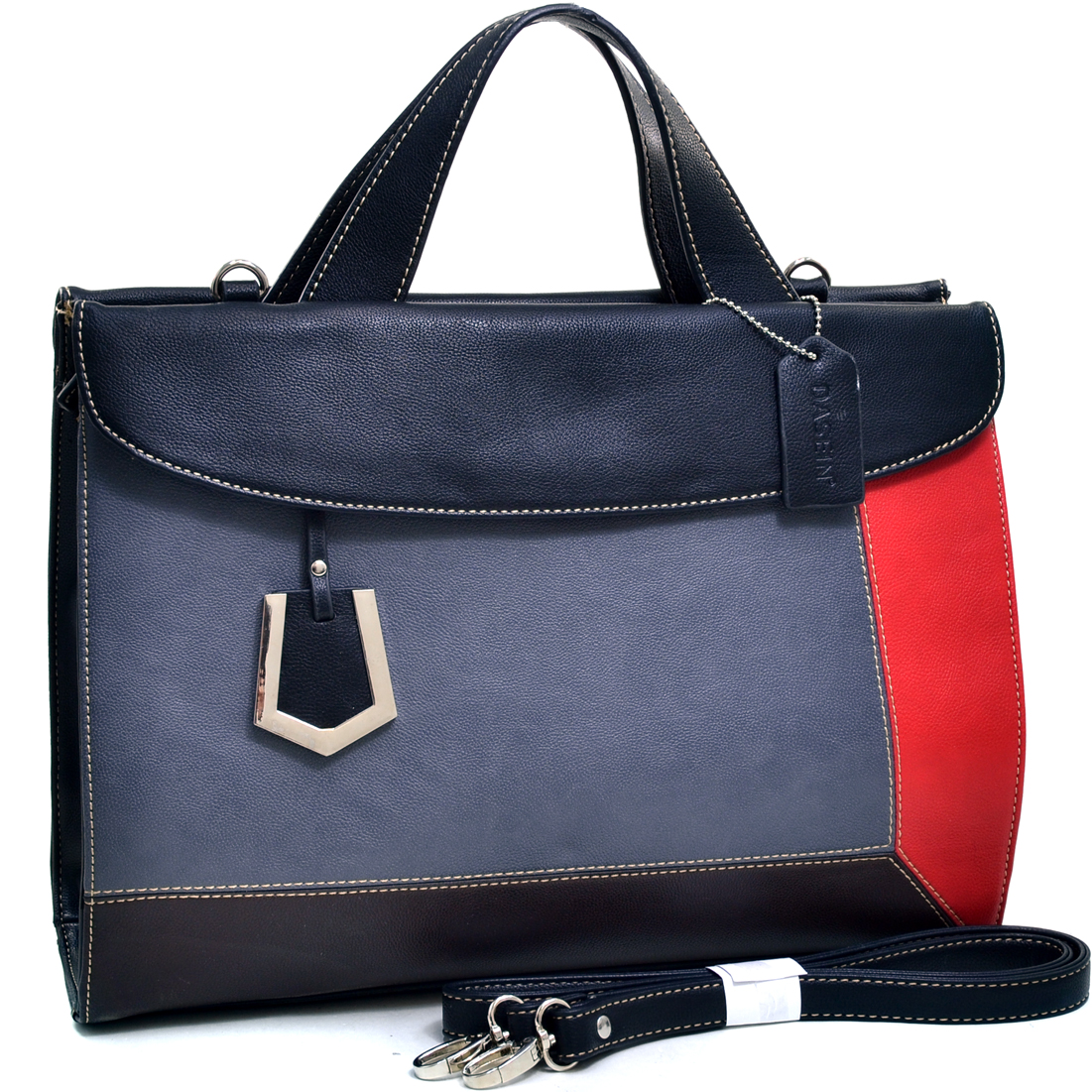 Dasein® Color Block Fashion Briefcase