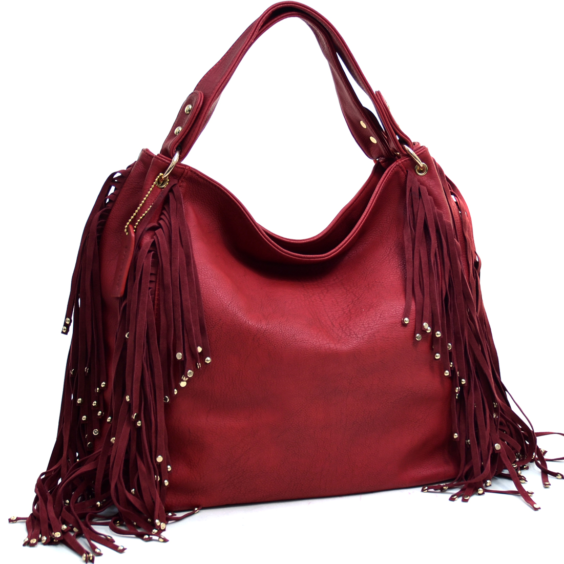 Studded Fringe Fashion Hobo
