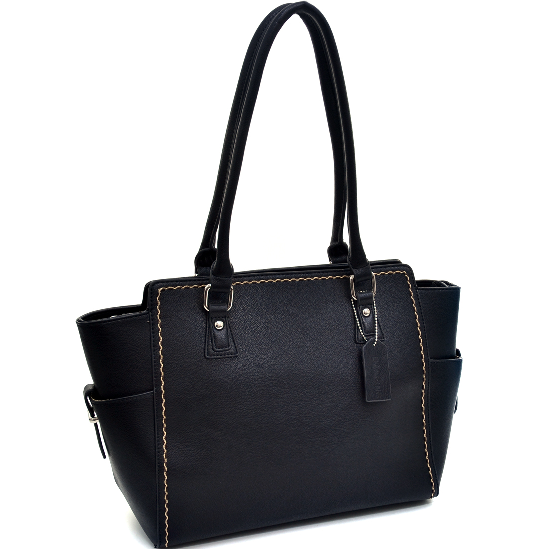 Dasein® Classic Stitched Winged Tote