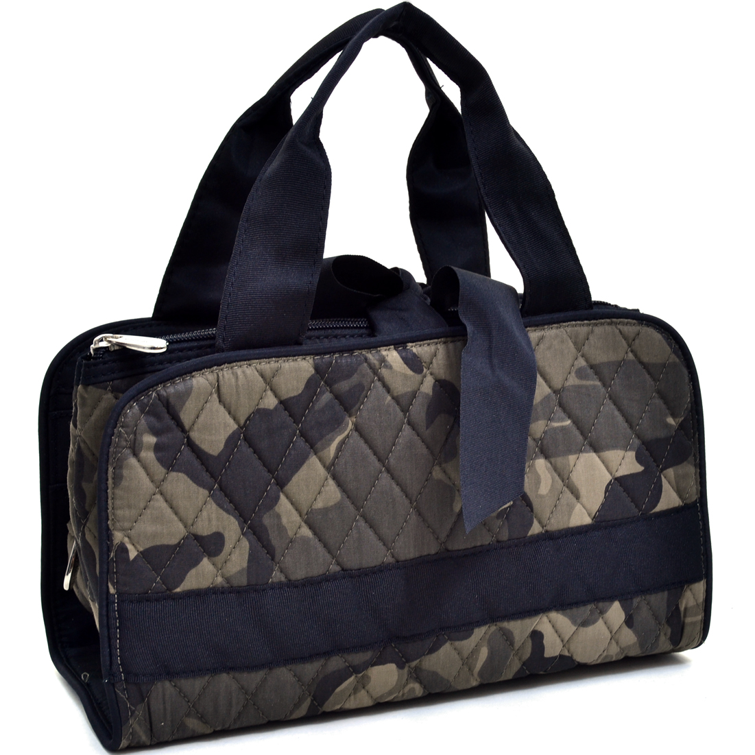 3 Piece Quilted Camouflage Cosmetics Case