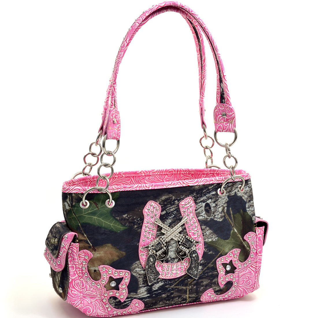 Mossy Oak Studded Camouflage Shoulder Bag