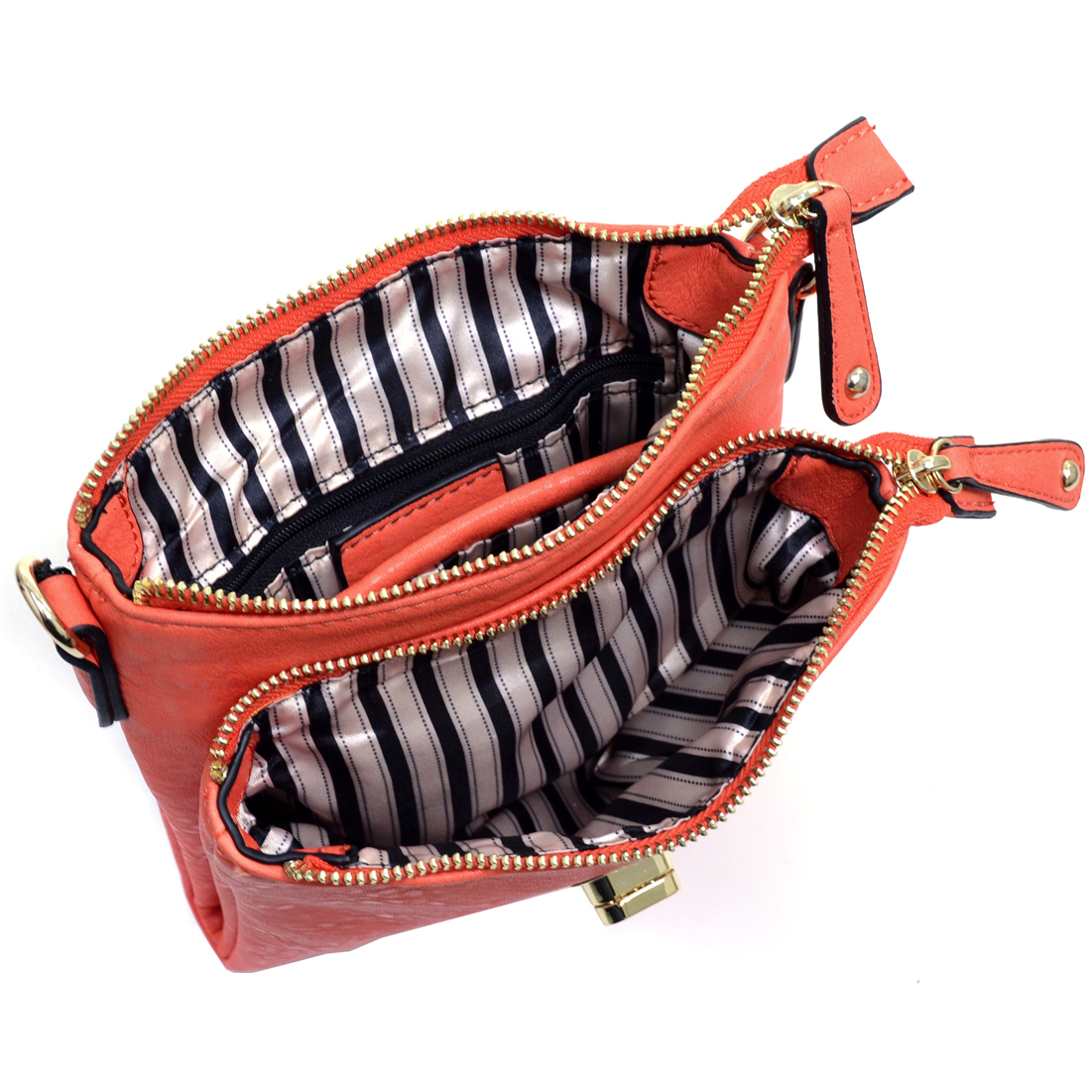 Isabelle® Twist-lock Messenger Bag With Dual Compartments