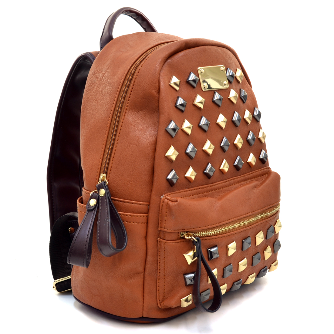 Petite Pyramid Studded Fashion Backpack