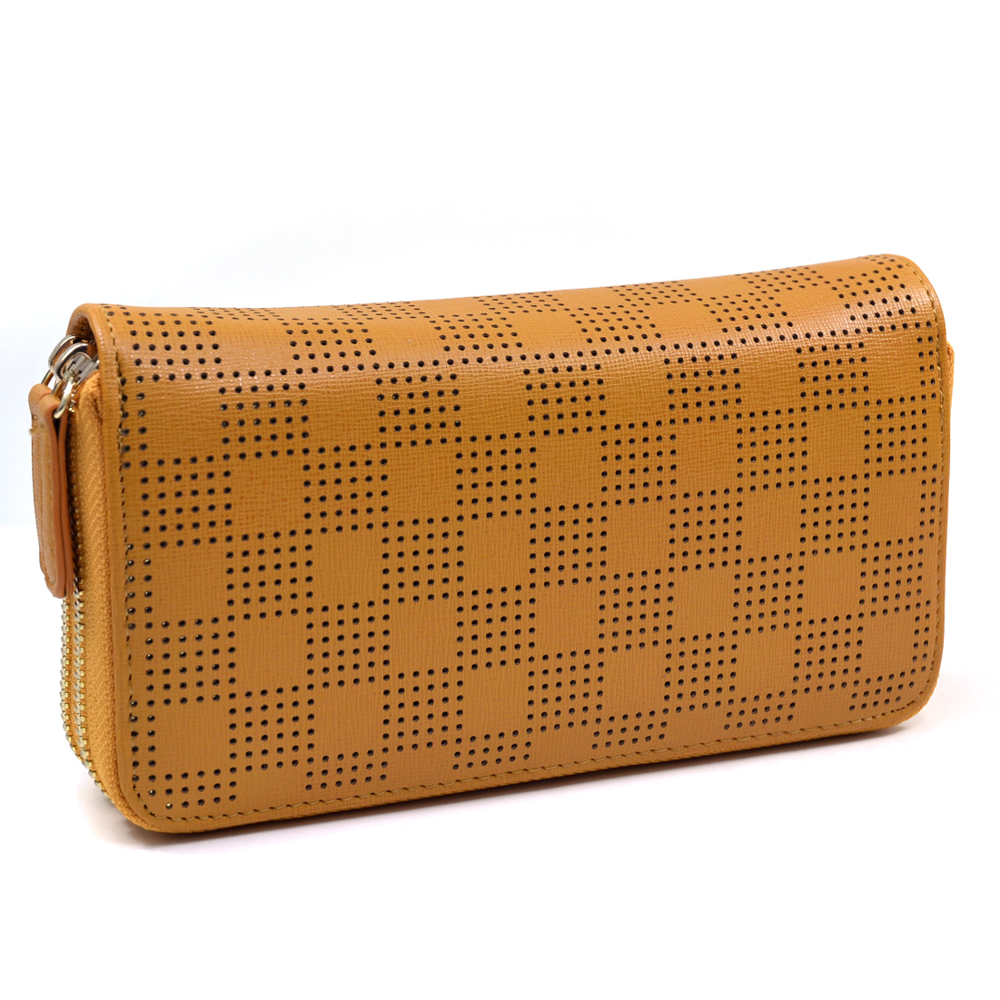 Isabelle® Checkered Cut Out Zip Around Wallet