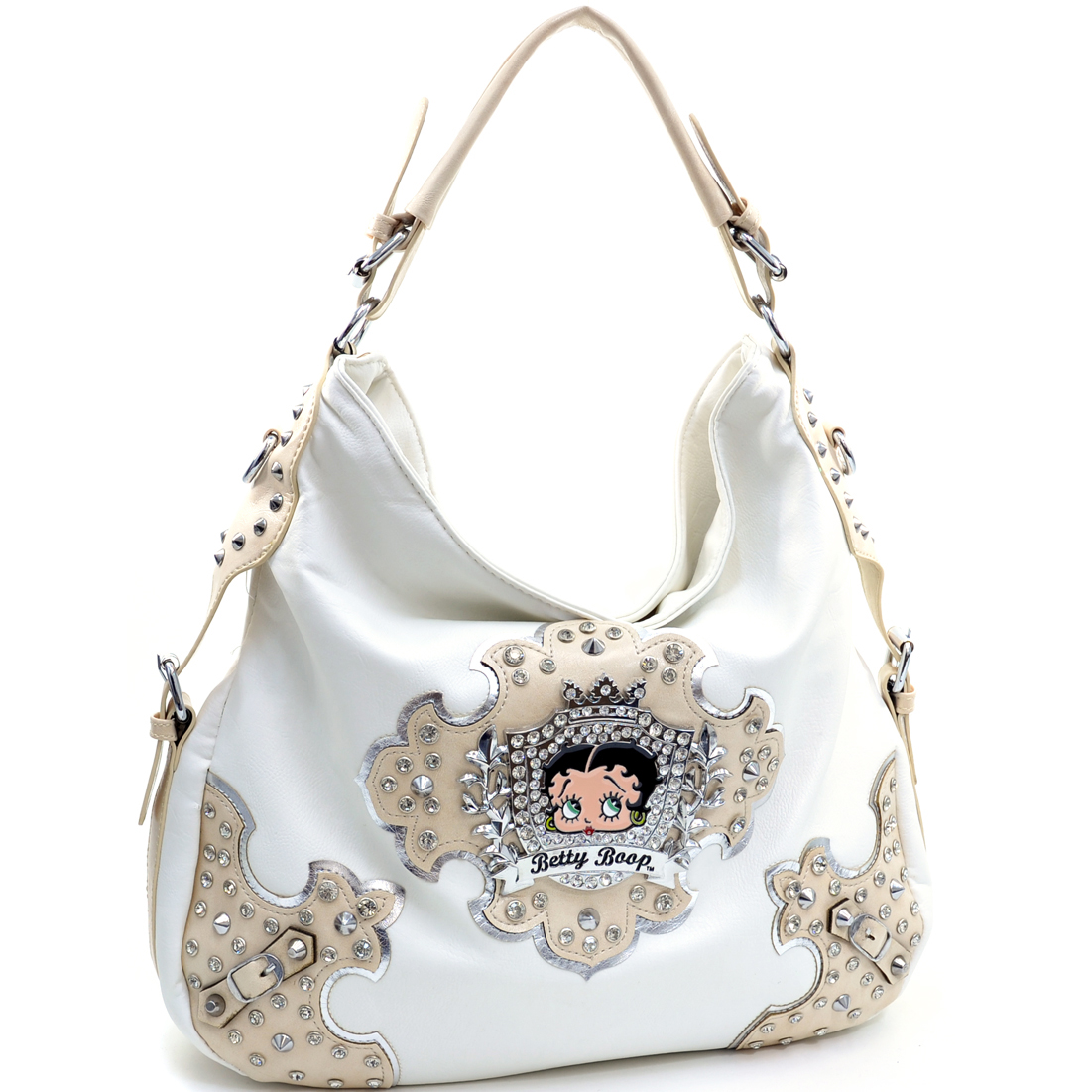 Betty Boop® Hobo With Rhinestone Crest