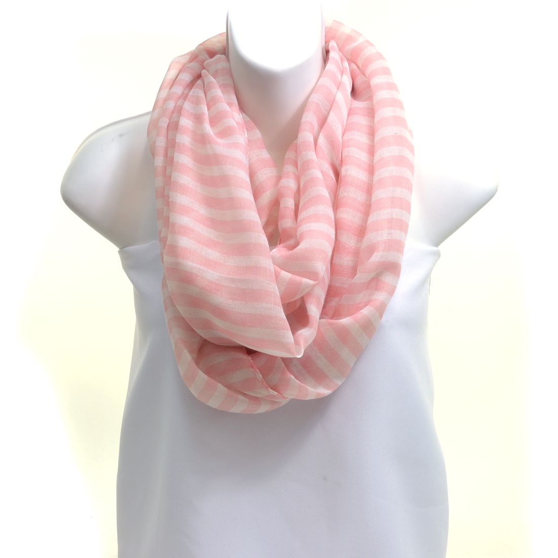 Sheer Stripe Infinity Scarf