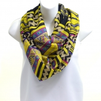 Multicolor Aztec Inspired Infinity Scarf