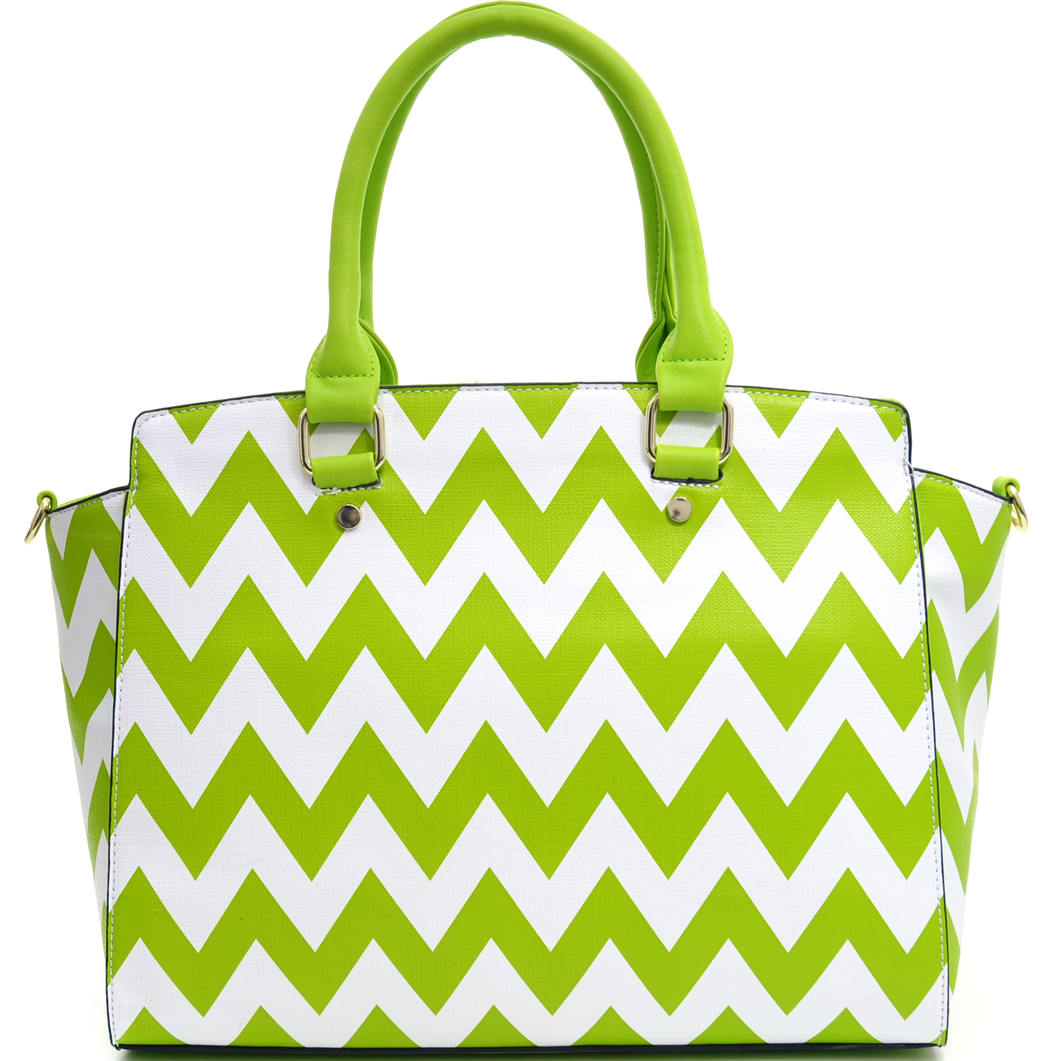 Chevron Printed Winged Tote