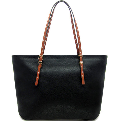 Oversized Faux Leather Fashion Tote