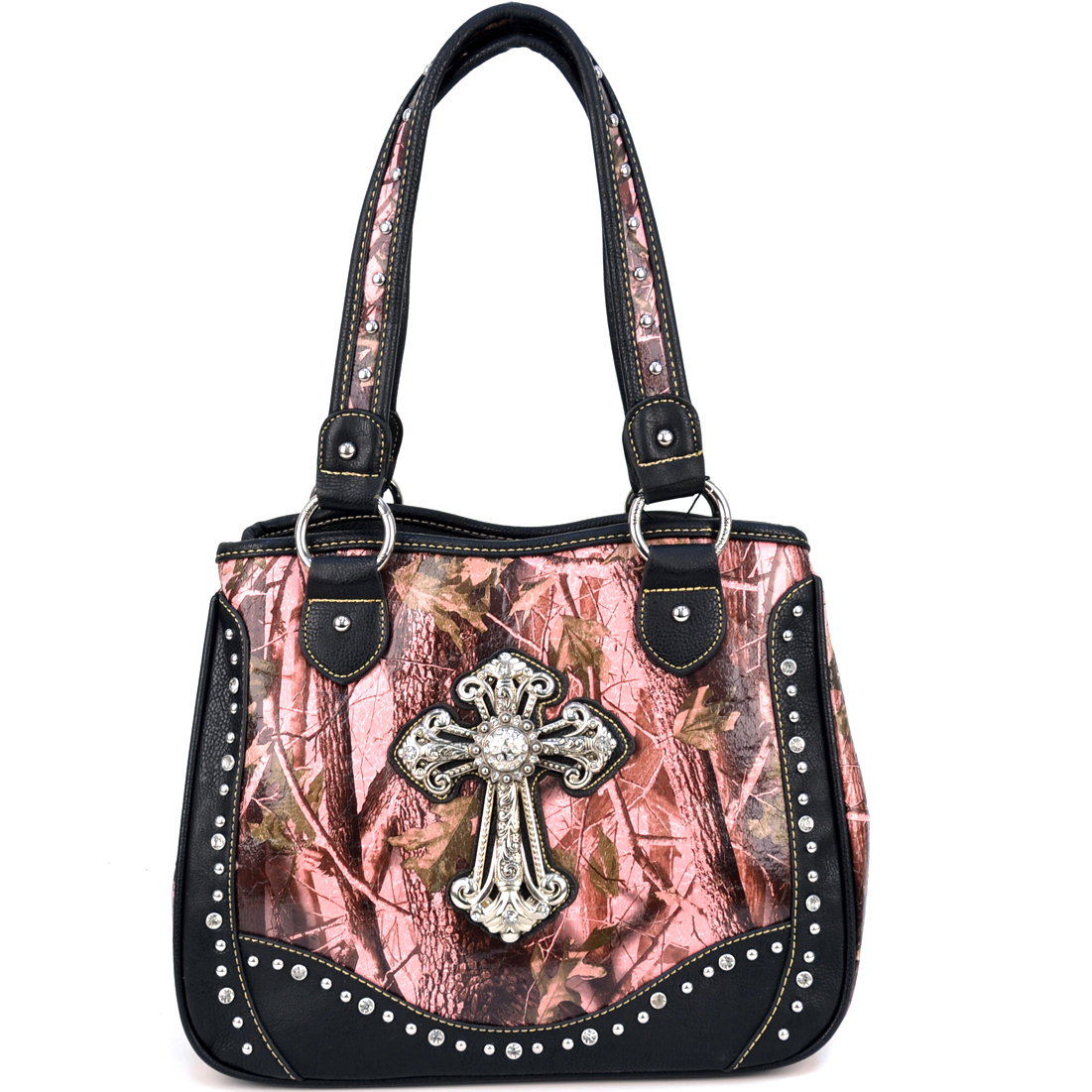 Montana West Ostrich Texture Western Shoulder Bag With Quilted Accent