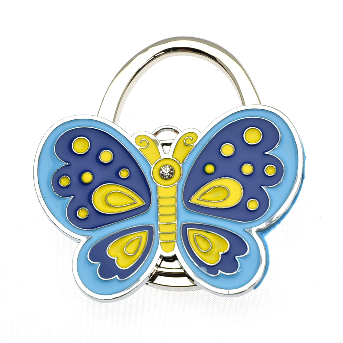 Embossed Metal Butterfly Shape Handbag Bag Purse Hanger Hook Table Holder