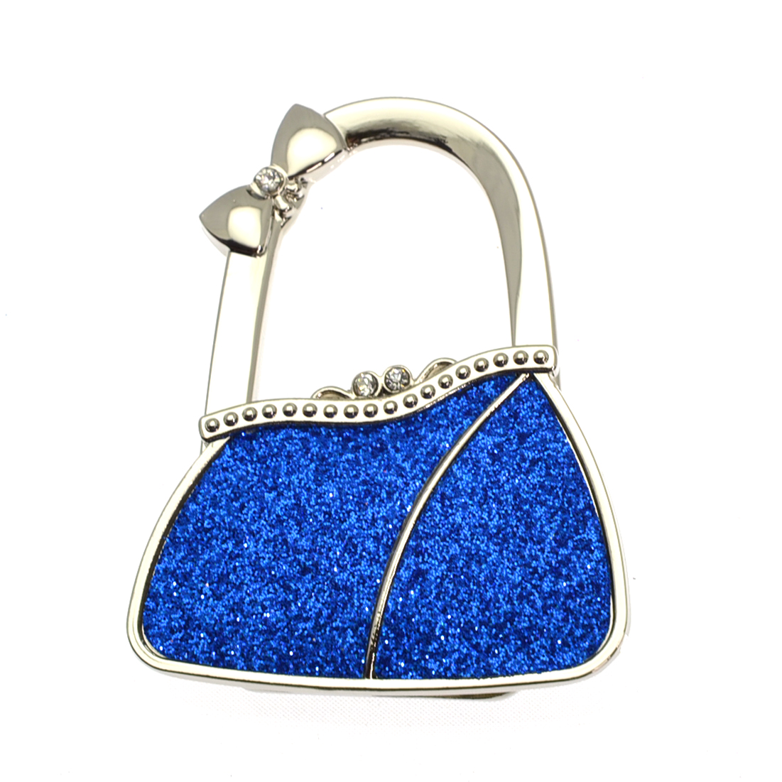 Textured Metal Purse Shape Handbag Bag Purse Hanger Table Hook