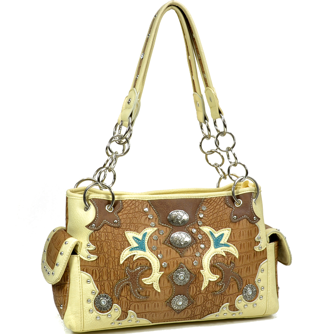 Women Western Style Studded Shoulder Bag