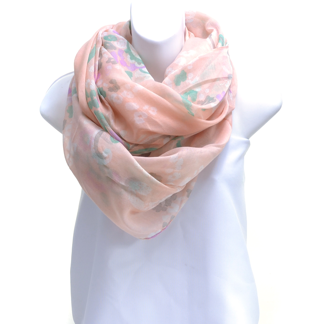 Leopard & Floral Print Infinity Scarf