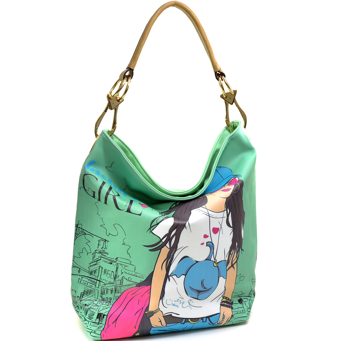 Fashion Girl Double Ring Tote