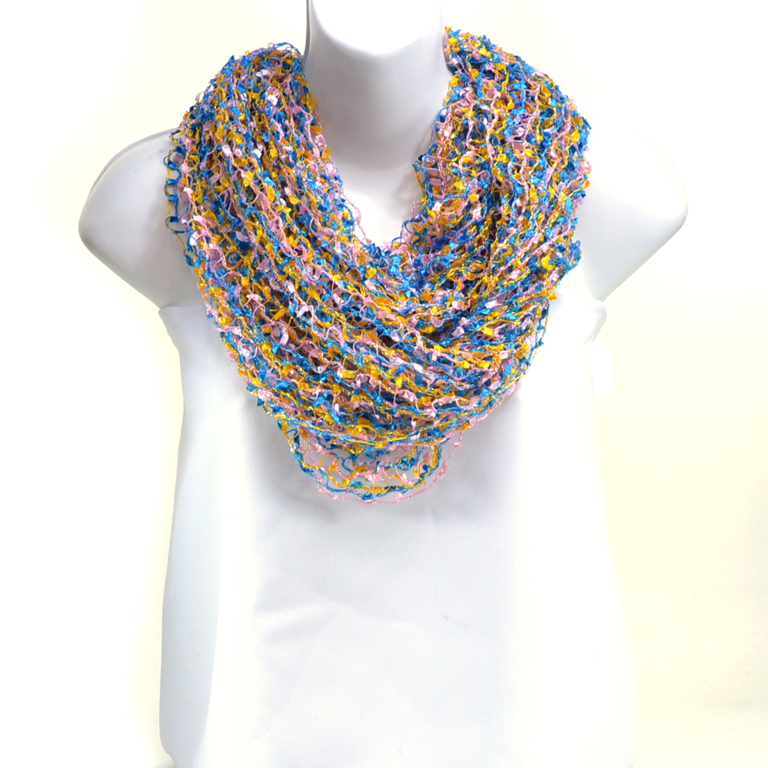 Fling Funnel Continuous Multicolor Scarf