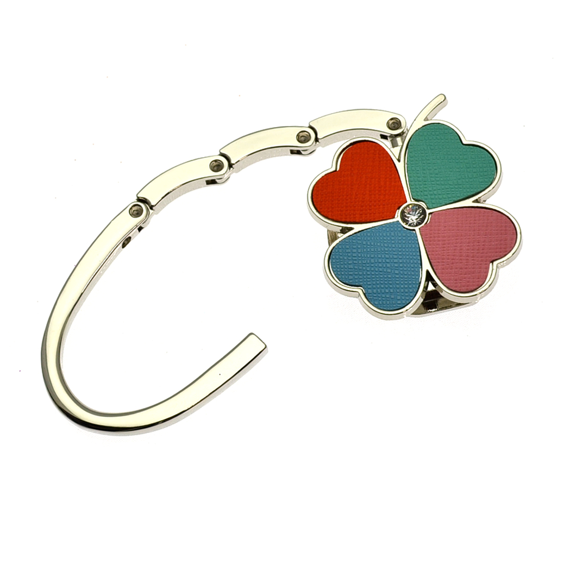 Four Leaf Clover Petal Design Foldable Purse Hanger Hook