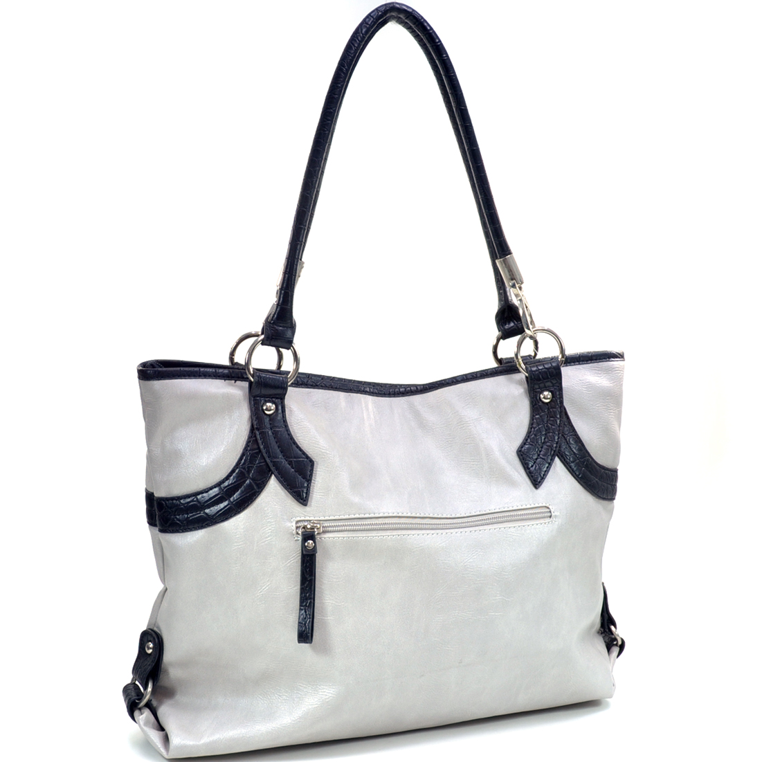 Two-Tone Tote Handbag