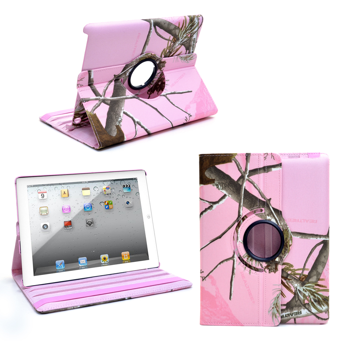 Dasein® iPad 2 3 4  360 Rotating Smart Case  in Realtree Camo