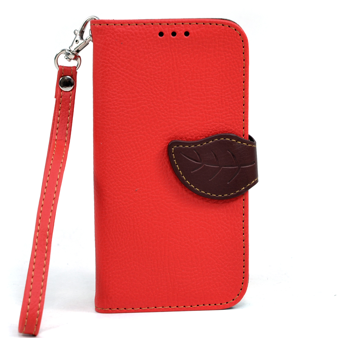 Dasein® Leaf Design Faux Leather Cell Phone Case for Samsung Galaxy S4