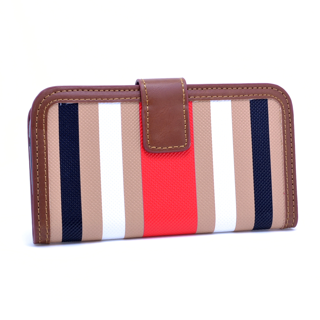 Dasein® Striped Phone Case for iPhone5 5s 5g-Khaki/Red