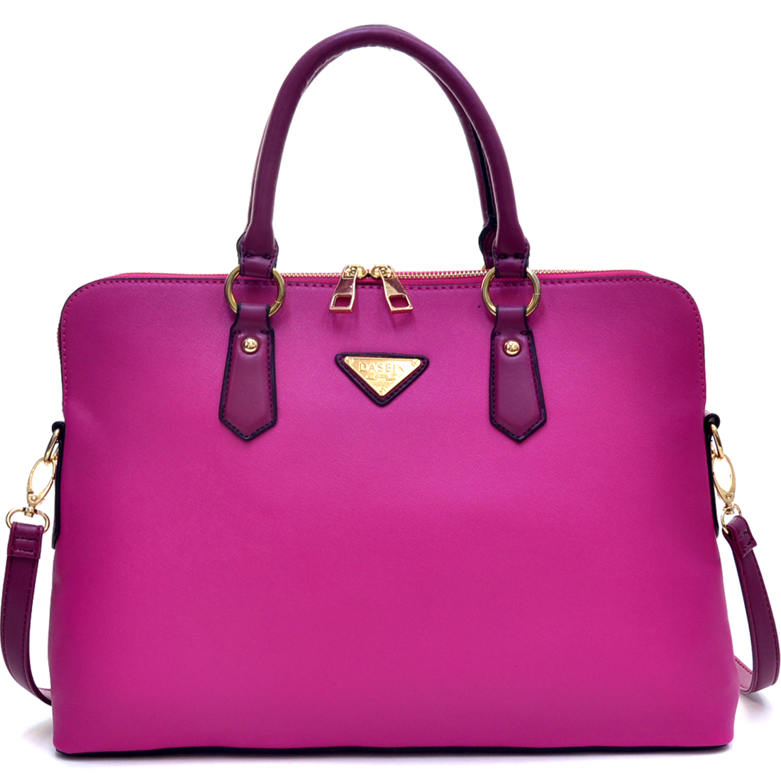 Dasein® Slim, Rolled Handle Briefcase with Removable Shoulder Strap