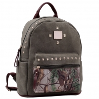 Realtree® Studded Canvas Zip Around Camo Backpack