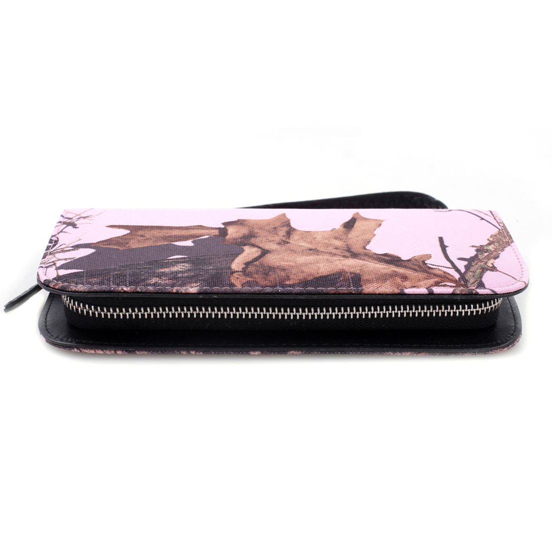 Mossy Oak® Half Zip-Around Canvas Wallet with Twist & Lock