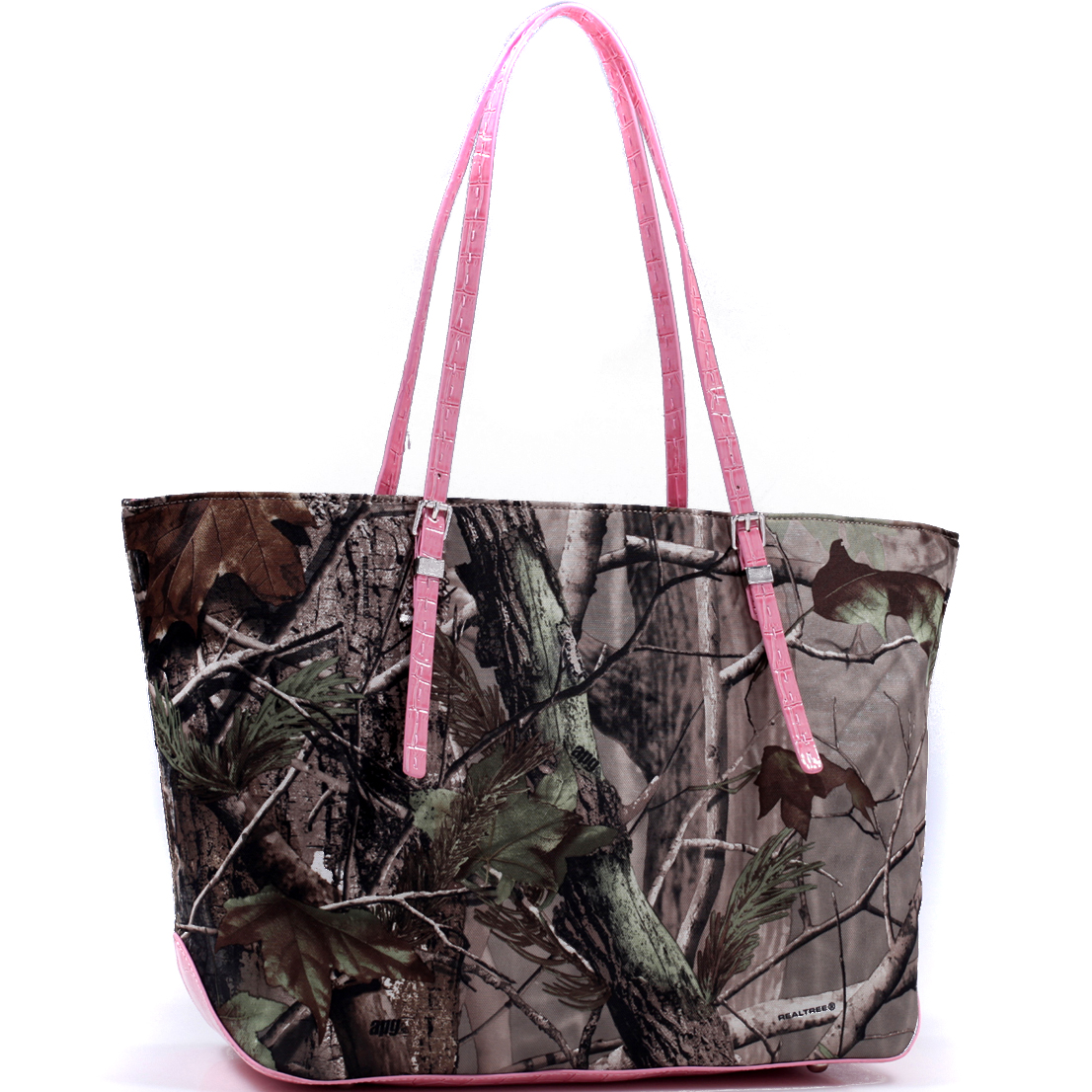 Realtree® Wide Carry-All Camouflage Tote Bag with Thin Shoulder Straps