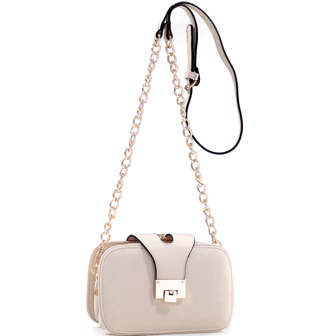 Mini Gold-Tone Chain Strap Crossbody Bag