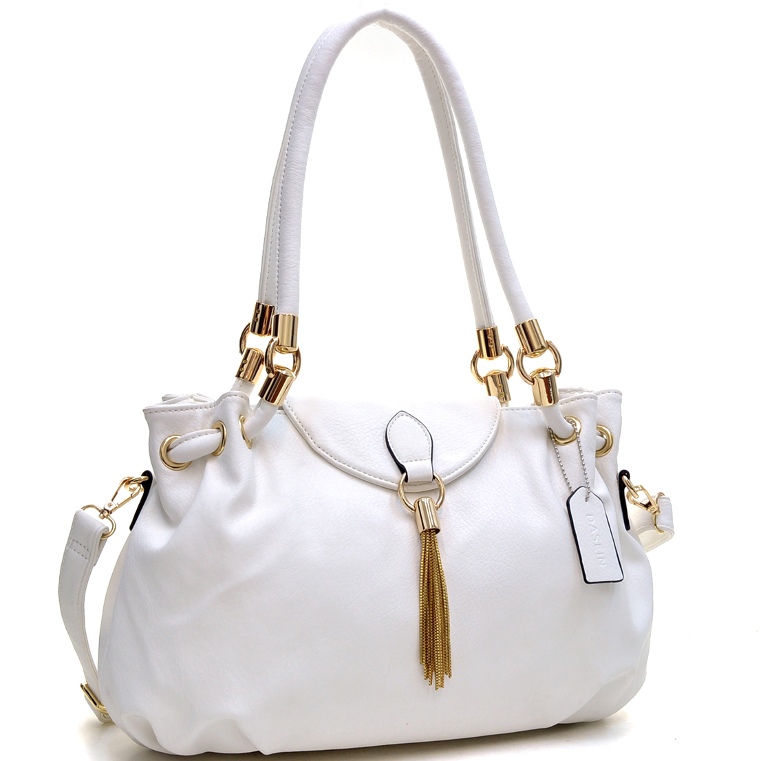Loop Through Shoulder Bag with Tassel Accent