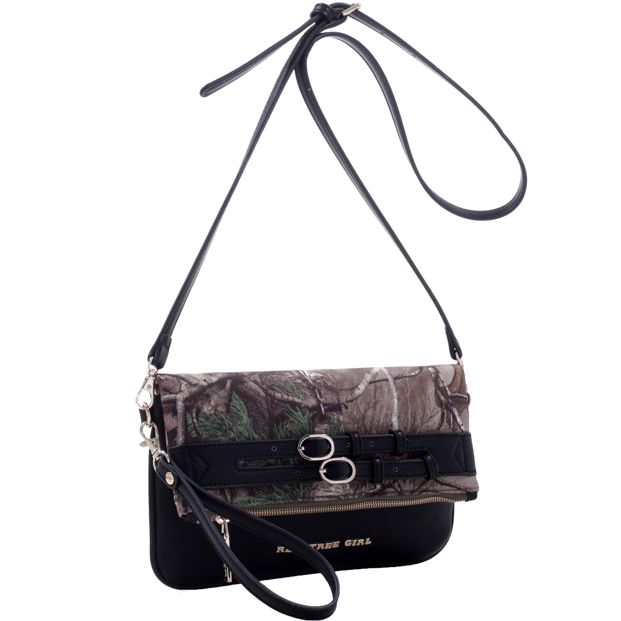 Realtree® Girl Fold-Over Clutch Messenger Bag