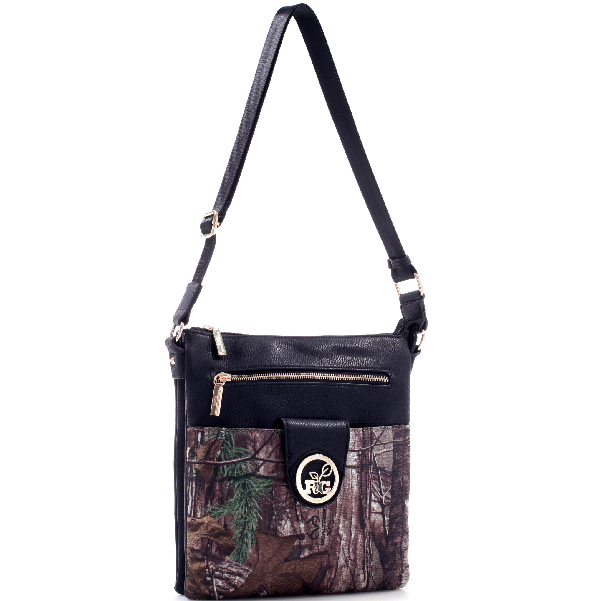 Realtree® Girl Multi-Compartment Crossbody Messenger Bag