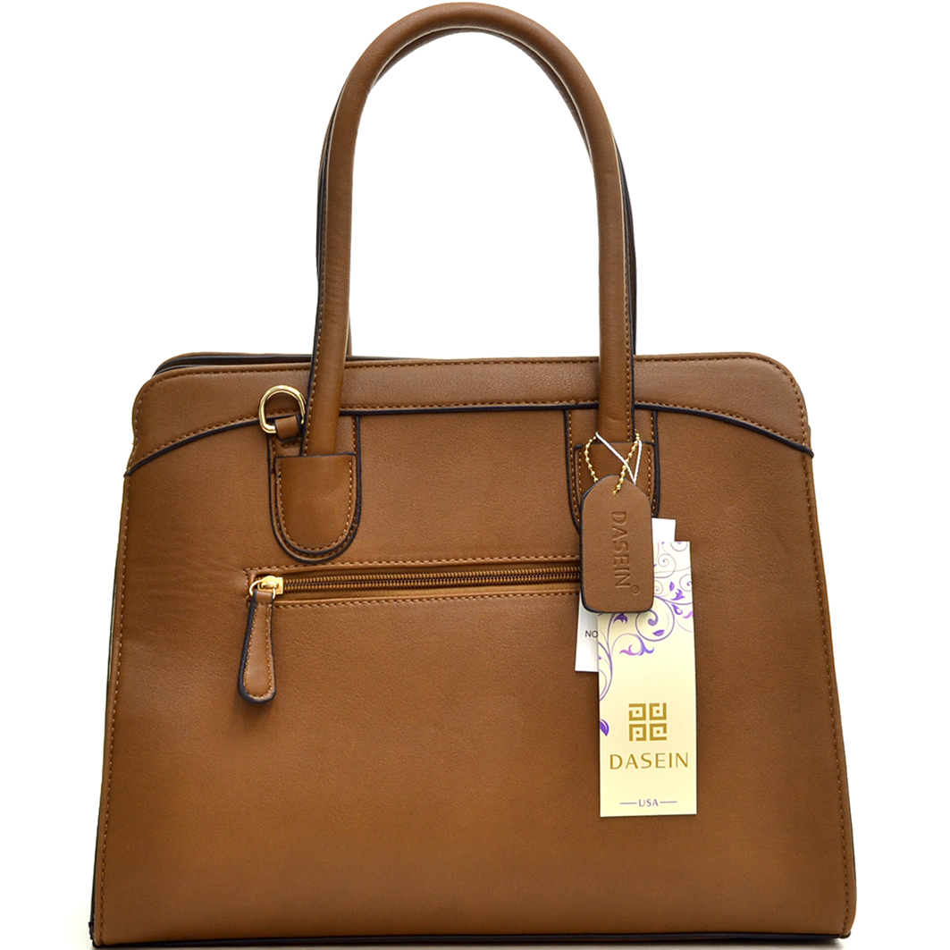 Dasein® Caprice Leather Briefcase with Removable Shoulder Strap