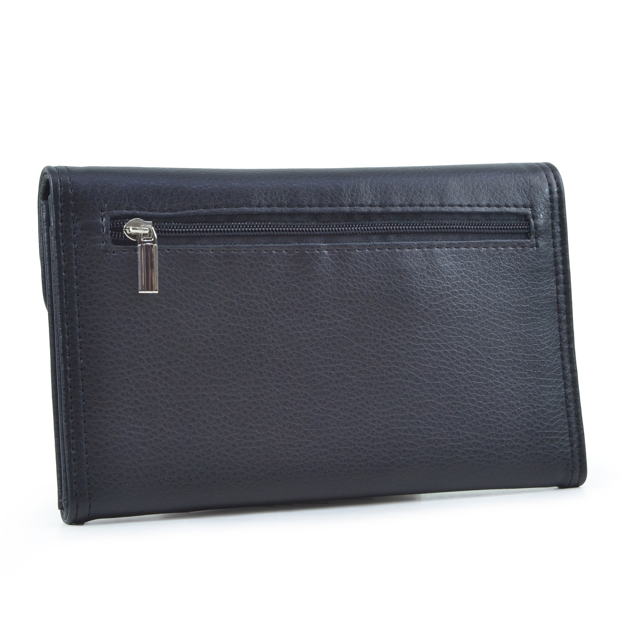 Dasein® Faux Leather Wallet with Buckle Snap Closure