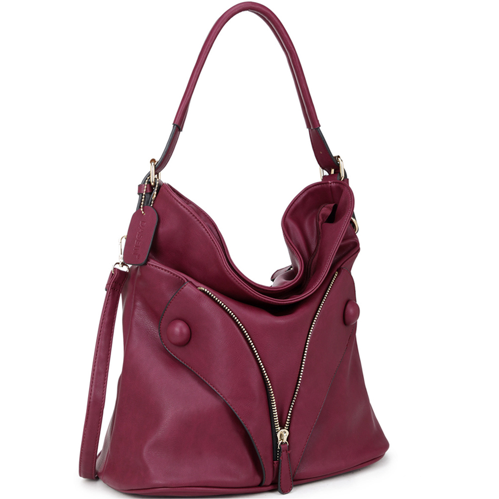Dasein® Zipped Jacket Effect Hobo Bag