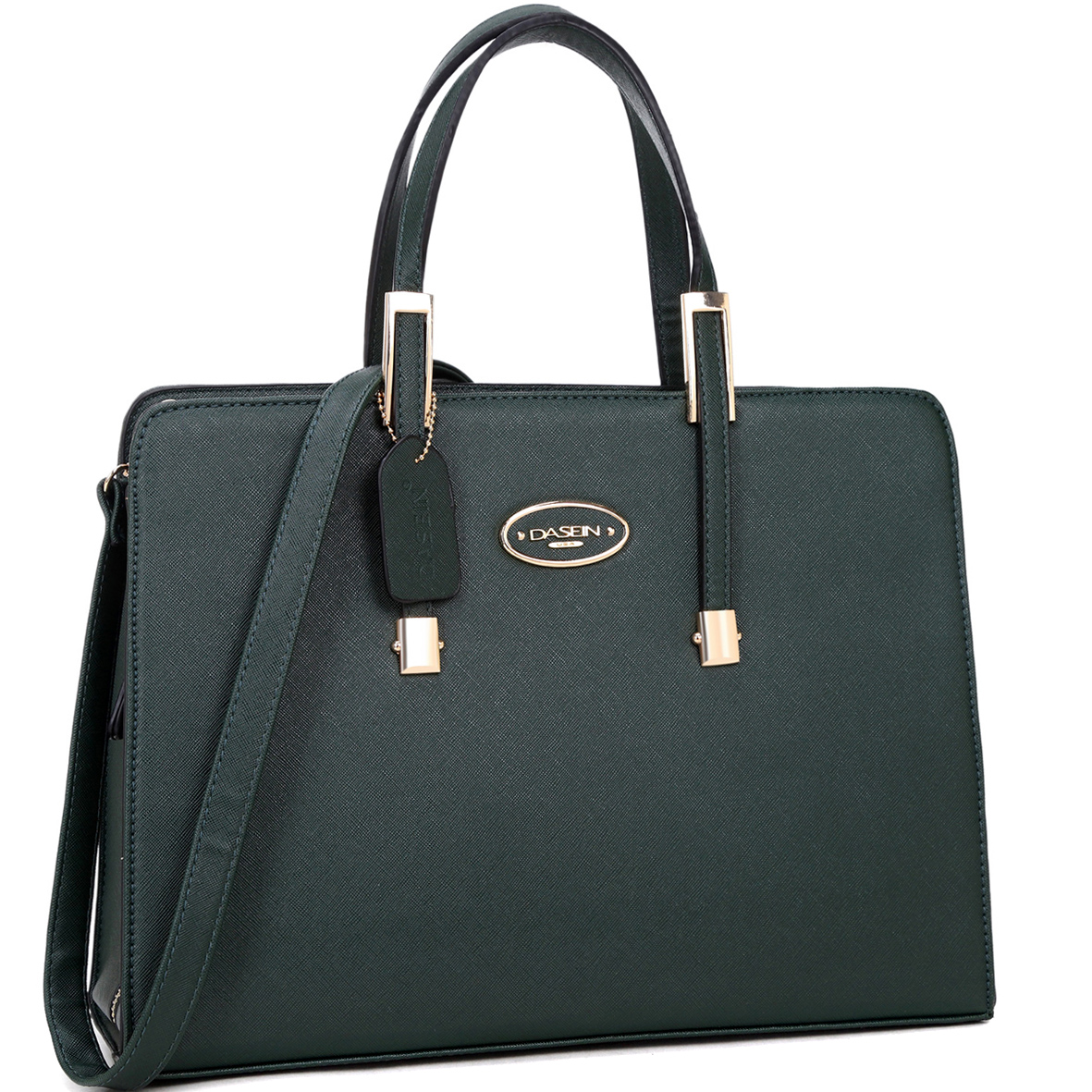 Dasein® Briefcase Tote with Removable Shoulder Strap