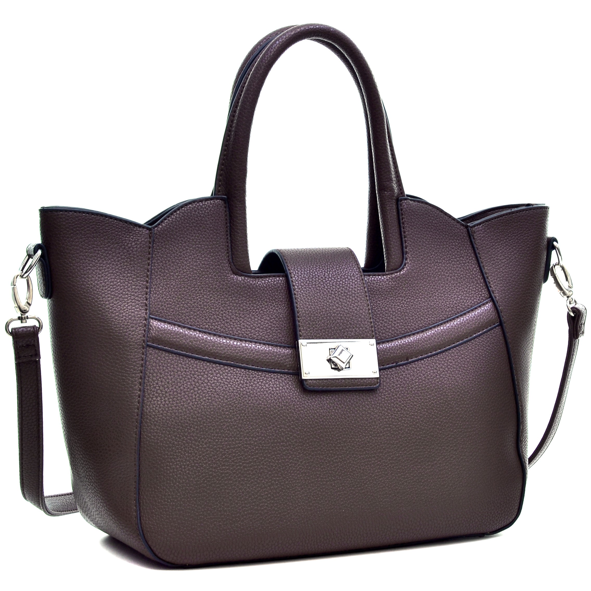 Dasein® Fold-Over Winged Satchel with Shoulder Strap