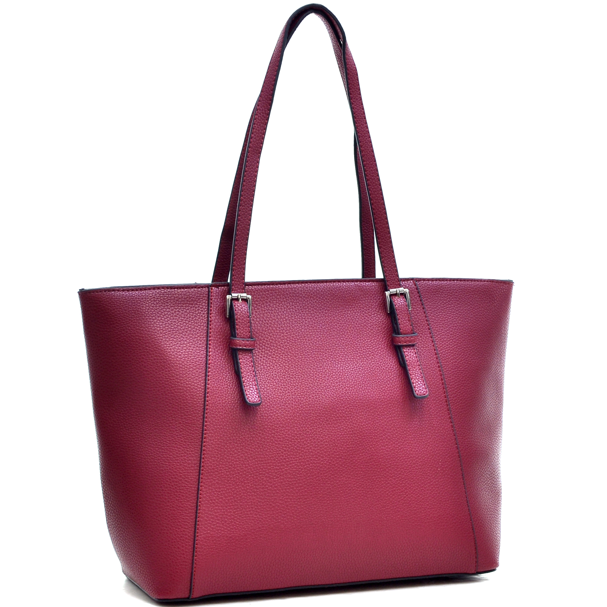 Dasein® Faux Leather Buckle Strap Tote