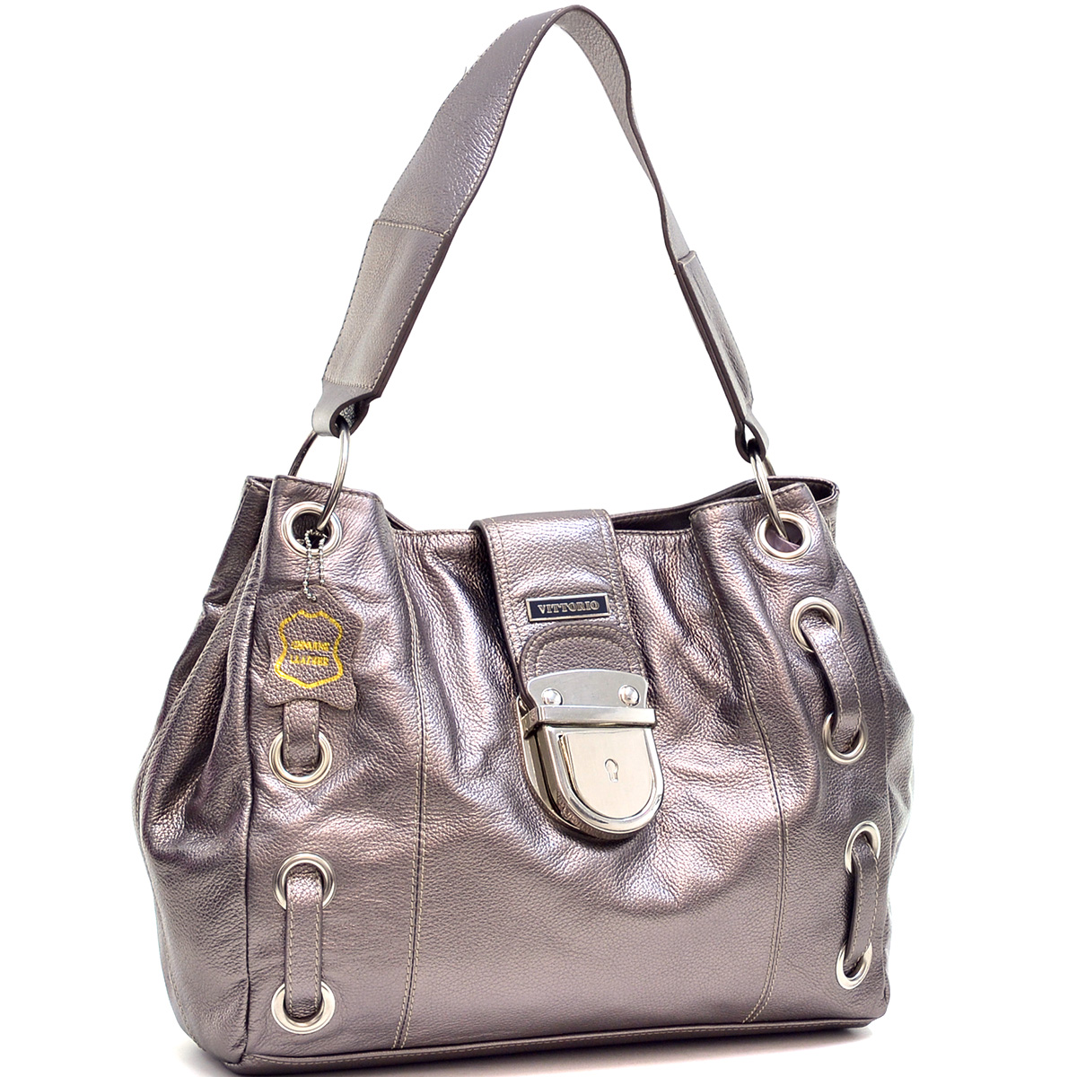 Vittorio Genuine Leather Loop-Through Shoulder Bag