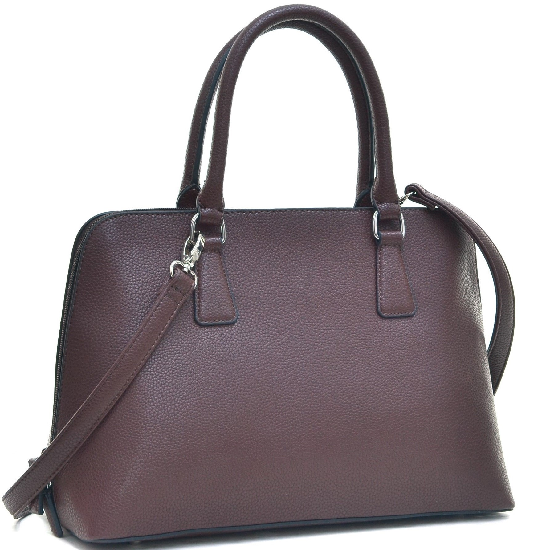 Dasein® Buffalo Faux Leather Zip-Around Handbag