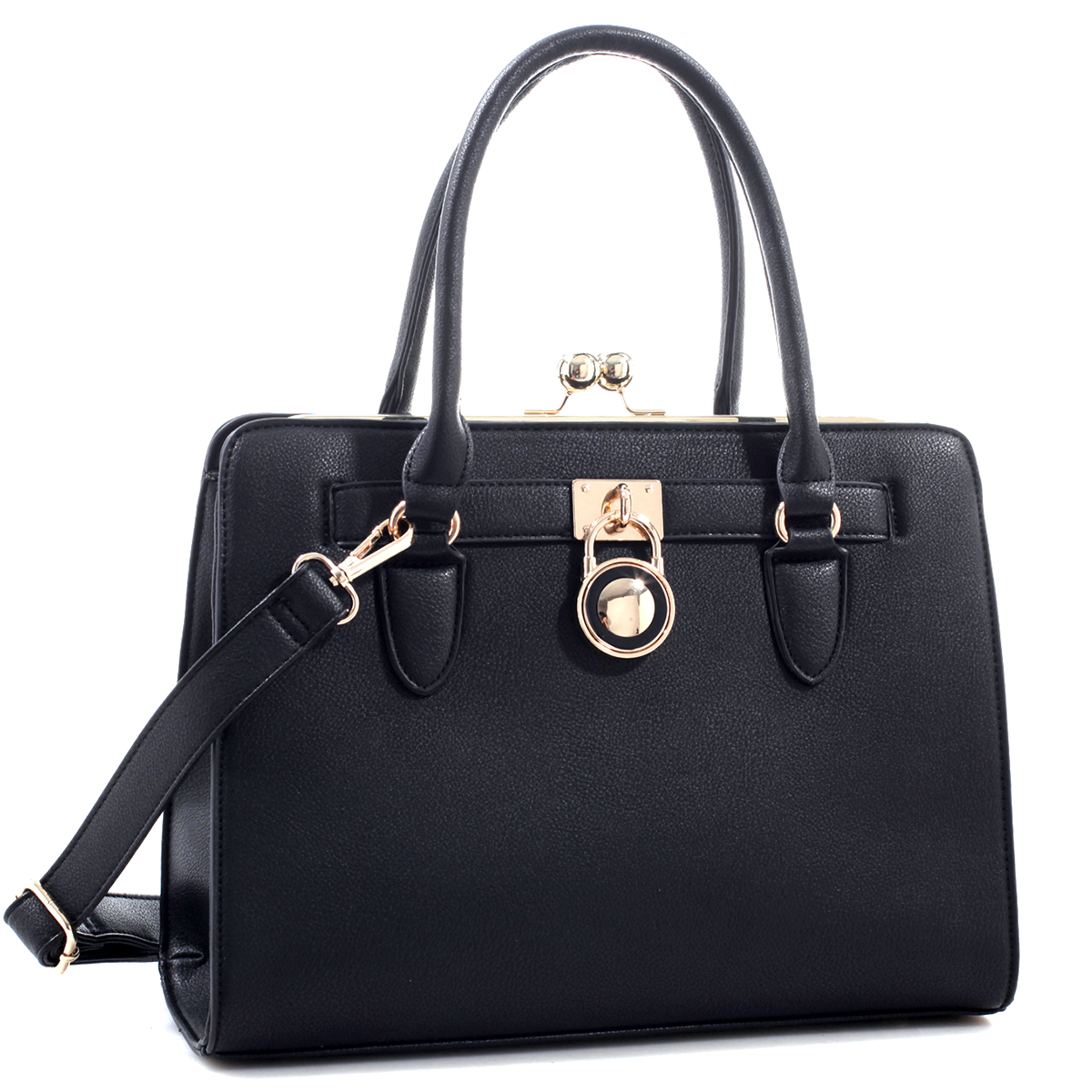 Kiss-Lock Center Compartment Padlock Satchel