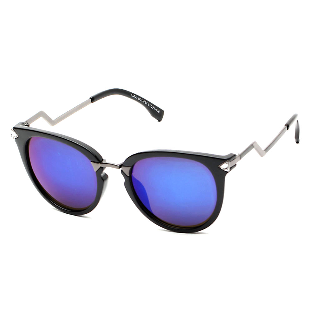 Retro Style Sunglasses with Zigzag Arms