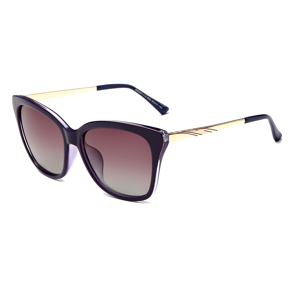 Square Sunglasses with slim Metal Arms