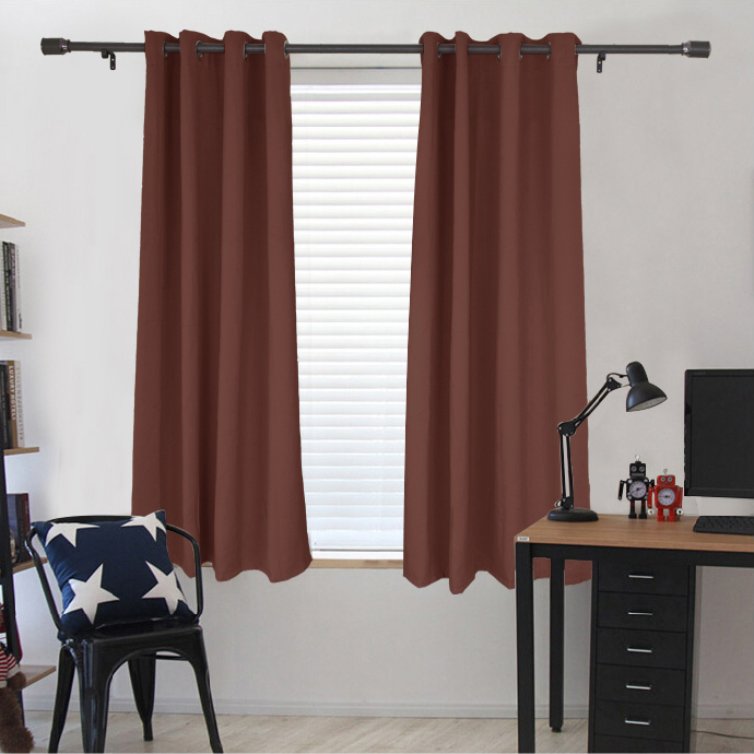 "Dasein Microfiber Grommet Woven Blackout Curtain, Two Panels, 63""L x 52""W"
