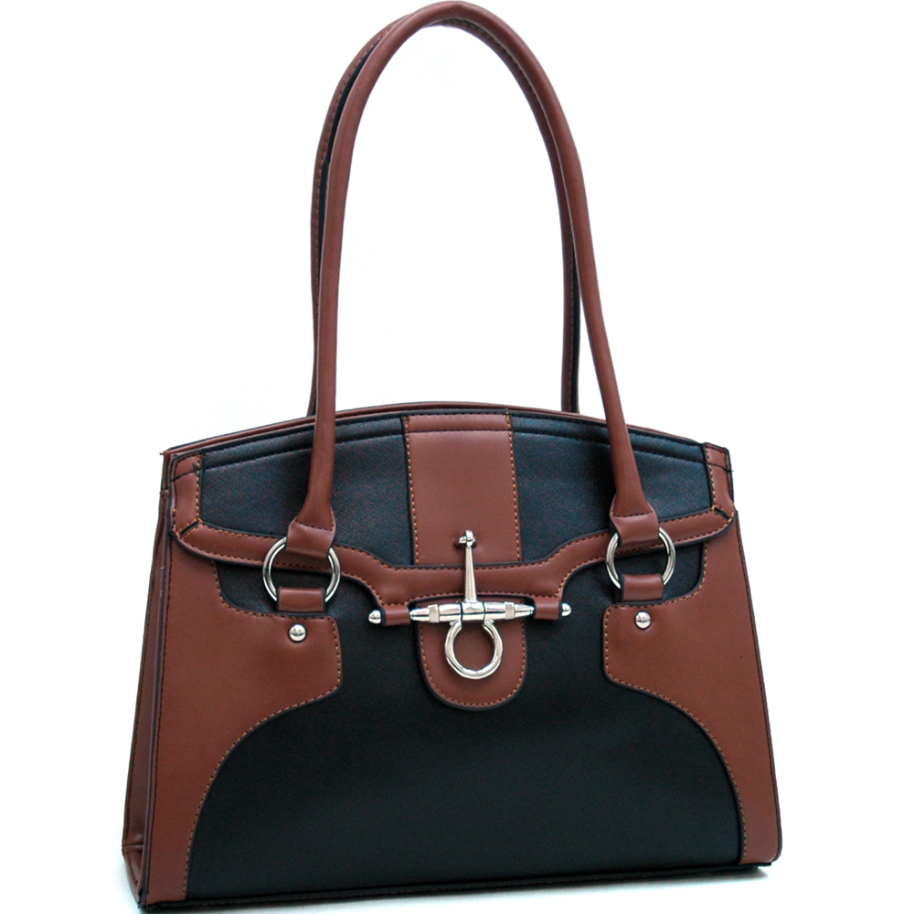 Fulmer Snaffle Two Tone Satchel