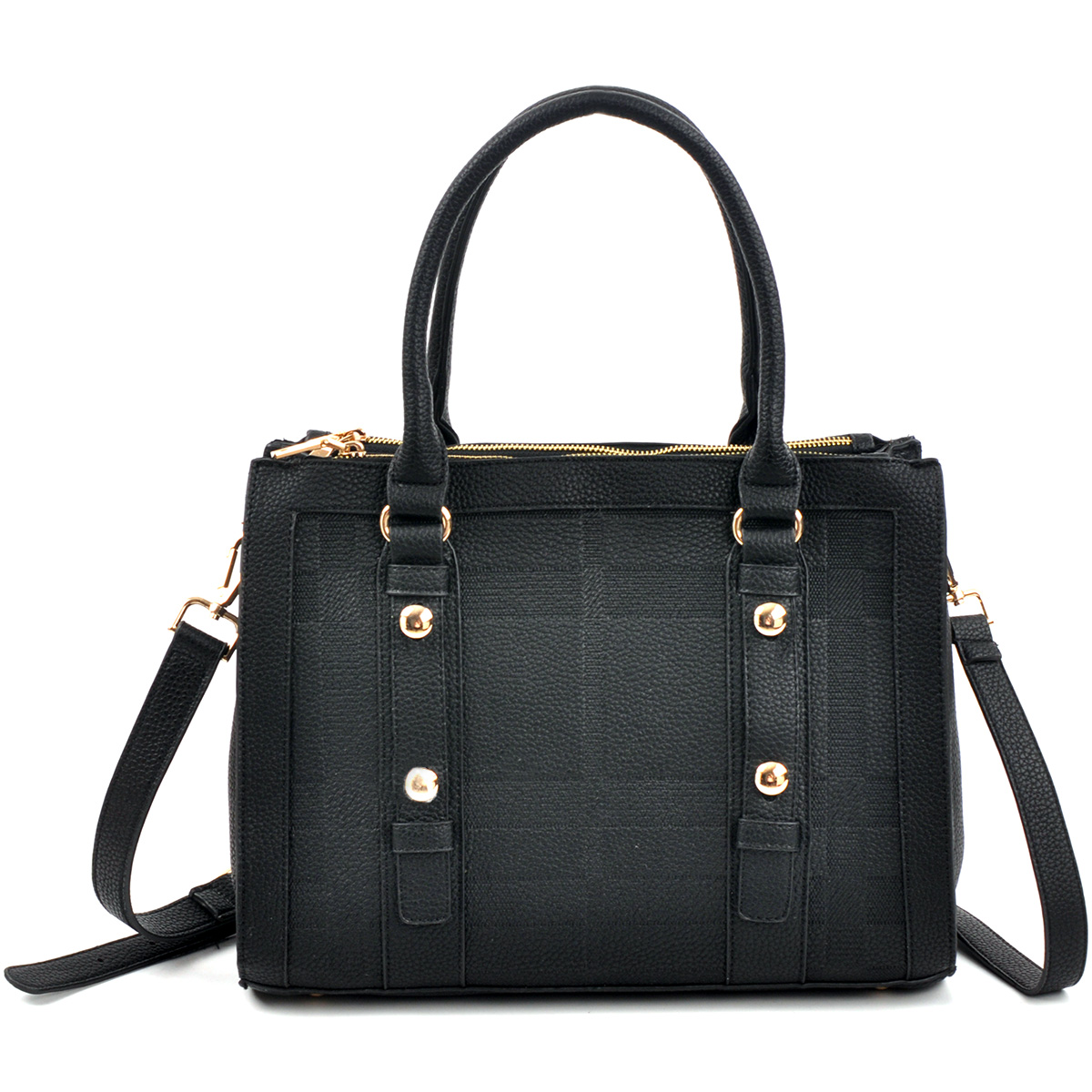 Belted Medium Satchel Bag