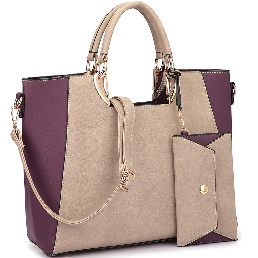 Dasein®  Square Handle Faux Leather Tote
